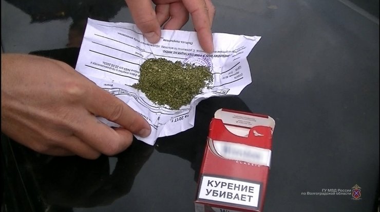 ВВолгоградской области полицейские обнаружили унервного водителя марихуану