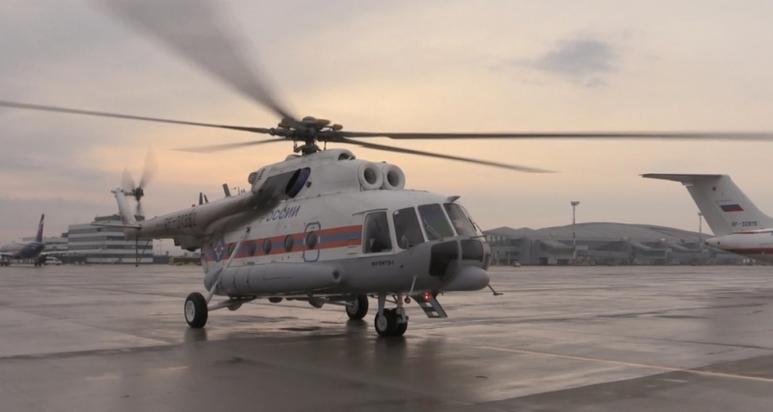 КЧМ-2018 Волгоград получил очередной вертолет Ми-8