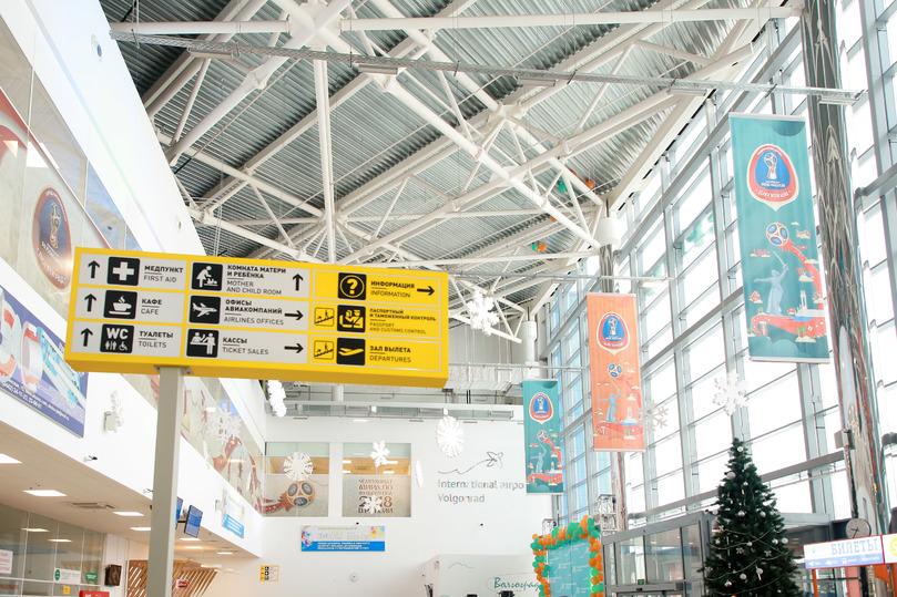 Самолет изПетербурга, севший вАстрахани, прибыл вВолгоград
