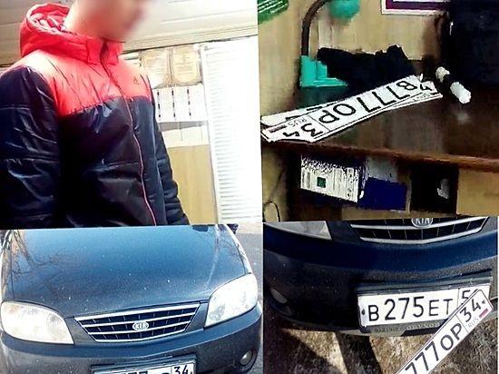 ВВолгограде москвич прятался отполицейских намашине споддельными номерами