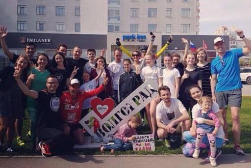 Бегущий изГамбурга вШанхай германский ультрамарафонец побывал вВолгограде