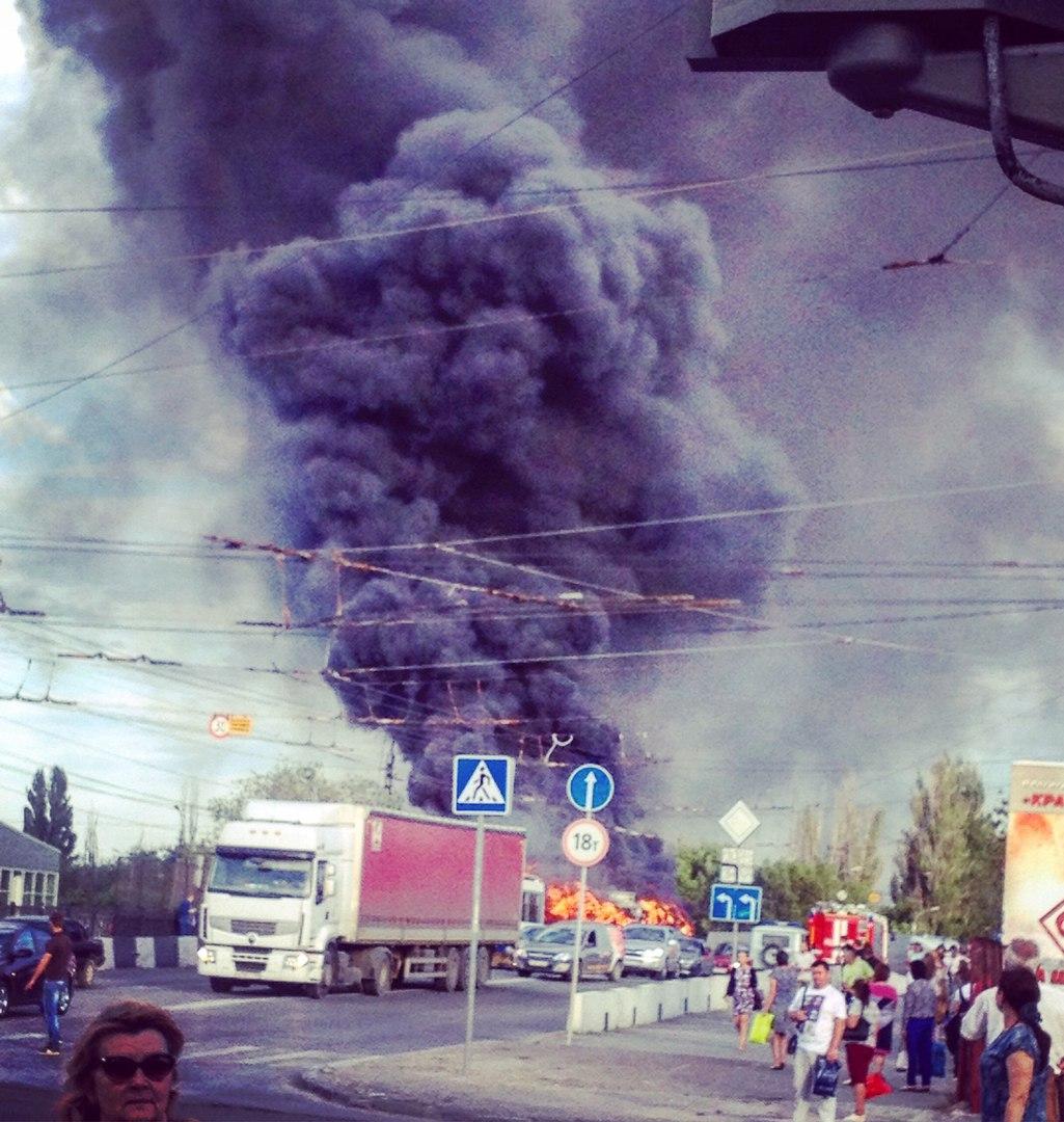 Троллейбус сгорел наюге Волгограда, причины устанавливаются