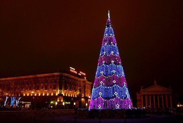 Наплощади Павших Борцов установили главную елку Волгограда