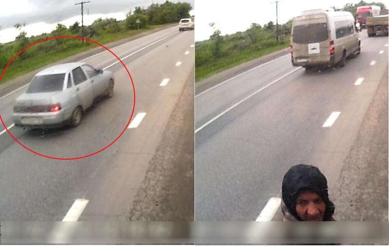 Наволгоградской трассе удальнобойщика похитили доллары ипневматический пистолет